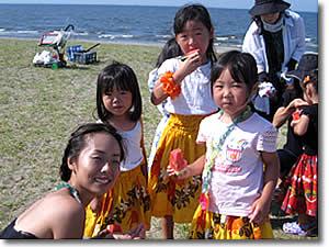 フラサークル プルメリア ハマフラ リポート2009 in Makuhari Beach
