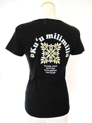 フラモアナ(Hula Moana)ハワイアンTシャツ キルト ブラック
