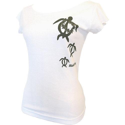 フラスタイル カットオフストレッチTシャツ ホヌレイ ホワイト