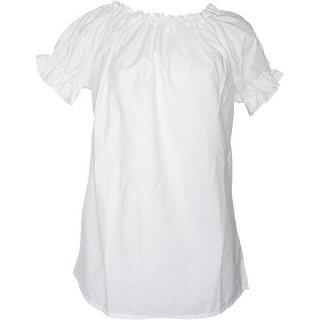 フラダンス衣装トップス シャーリングブラウス 半袖(ブラック)