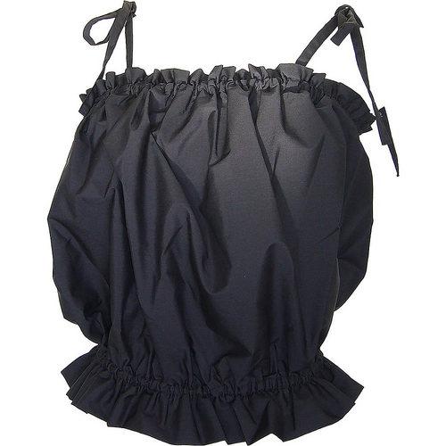 フラダンス衣装トップス リボンブラウス パウトップ(ブラック)