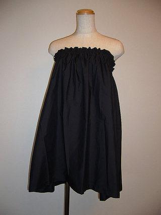フラダンス衣装トップス ブラウス兼ペチコート ブラック