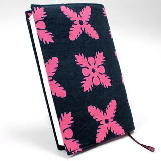 ハワイアンキルトモチーフ ブックカバー 5Color