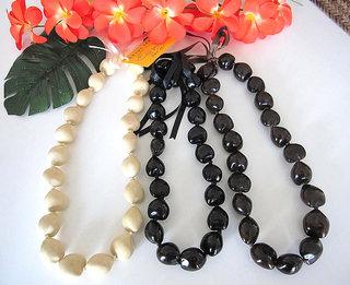 ハワイアンアクセサリー ククイ ロングレイ
