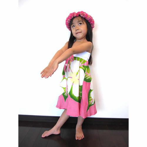子供用ハワイアンワンピース 2way ピンク