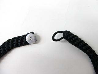 編み込みリボンネックレス 5連プルメリア ブラック