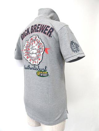 Dick Brewer  メンズ ポロシャツ 36グレー