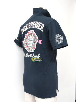 Dick Brewer  メンズ ポロシャツ 36ネイビー
