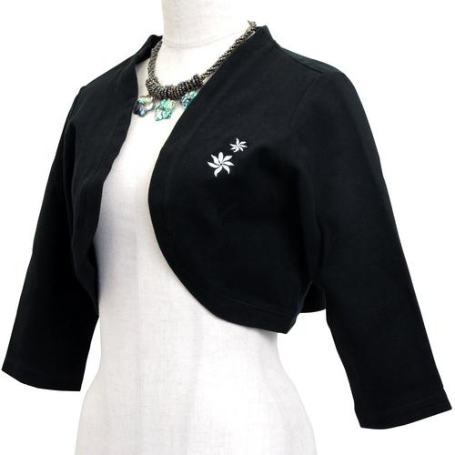 フラハワイアン 刺繍付きボレロ フローティングティアレ ブラック
