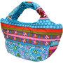 フララニ(Hula Lani)トートバッグ(Mサイズ) ホヌペイズリー ターコイズ