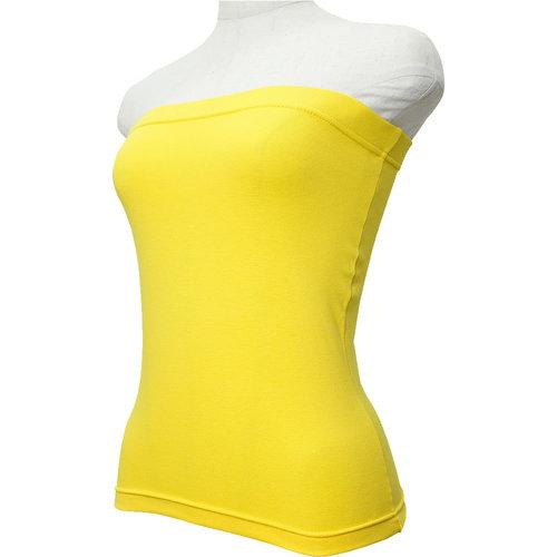 フラダンス衣装 カラータイトチューブトップ ゴムトップ イエロー