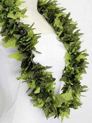 フラ衣装用ハワイアンレイ レザーファン