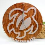フラレフア(Hula Lehua)ハワイアンアクリルウォールクロック ホヌブラウン
