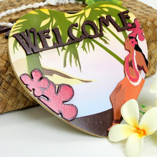ハワイアン ウェルカムプレート フラガールビーチ