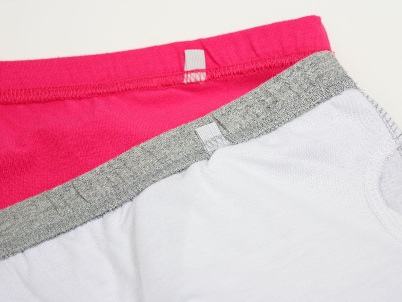 フラタヒチアン ブラカップ付きチューブトップ ピンク/グレー