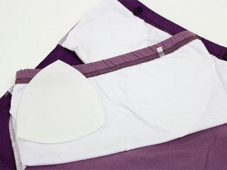 フラタヒチアン ブラカップ付きチューブトップ ライトパープル/パープル