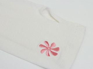 防蚊&UV加工 ハワイアンボレロ風ストレッチアームカバー ホワイト