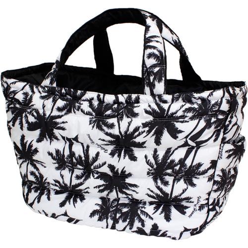 フララニ(Hula Lani)トートバッグ(Lサイズ)パームツリー ブラックホワイト