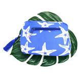 PUKANAハワイアンファブリックポーチ シースターブルー