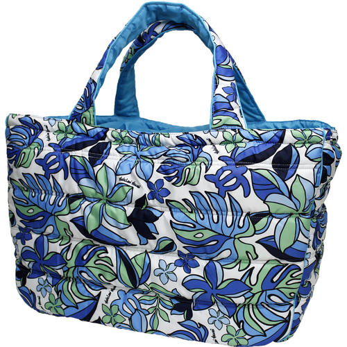 フララニ(Hula Lani)トートバッグ(Lサイズ)スタイリッシュ ホヌモンステラ ブルー