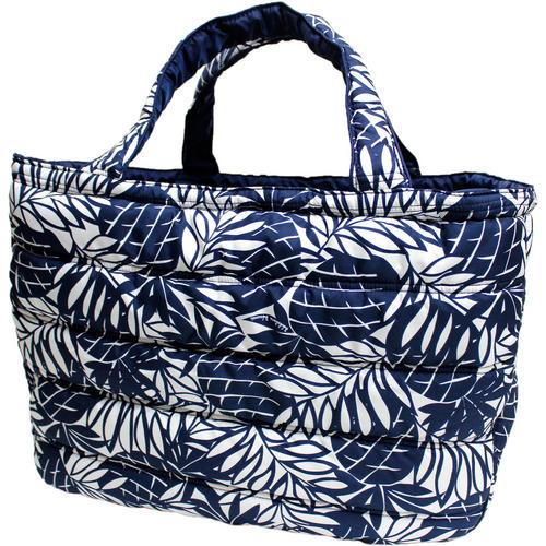 フララニ(Hula Lani)トートバッグ(Lサイズ)パインリーフ ホワイトネイビー