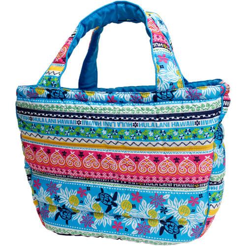 フララニ(Hula Lani)トートバッグ(XMサイズ)ホヌペイズリー ブルー