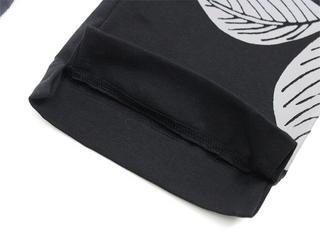 フラハワイアン スリムフィットパンツレギンス ブラック