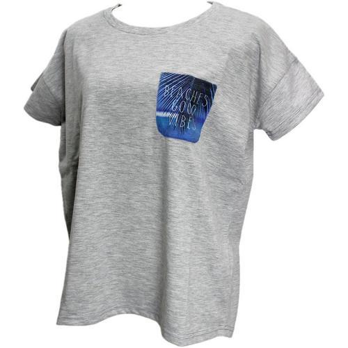 ハワイアンTC天竺Tシャツ CaliSurfビーチ グレー