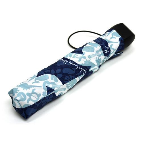 フララニ(Hula Lani)折りたたみ傘 ホヌハワイアンモチーフ ネイビー
