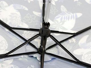 フララニ(Hula Lani)折りたたみ傘 ホヌモンステラ ネイビー