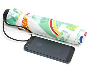 フララニ(Hula Lani)折りたたみ傘 アロハアイランド ホワイト