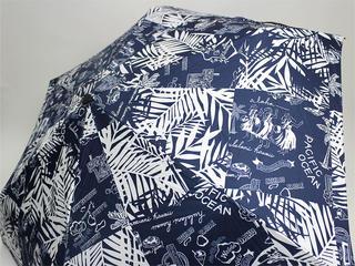 フララニ(Hula Lani)折りたたみ傘 スタイリッシュパッチワーク ネイビー