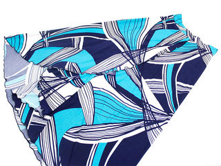 巻きスカート風2wayドレスワンピース ターコイズブルー
