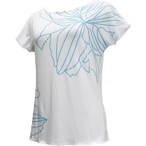 PUKANA ノースリーブストレッチTシャツ スタイリッシュブルーホワイト