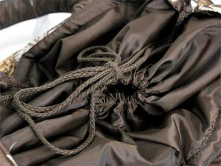 フララニ(Hula Lani)トートバッグ(Lサイズ)フラワーテキスタイル ブラウン