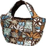 フララニ(Hula Lani)トートバッグ(Mサイズ)フラワーテキスタイル ブラウン