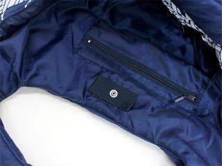 フララニ(Hula Lani)トートバッグ(Mサイズ)ブレッドフルーツ シンプルボーダー ネイビー