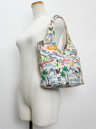 フララニ(Hula Lani)キャンバス トートバッグ ANTIBALイラスト オフホワイト