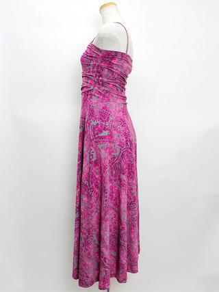 2wayムラ染めドレスワンピース ピンク