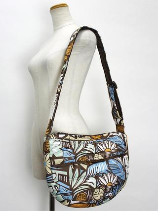 フララニ(Hula Lani)ショルダーバッグ フラワーテキスタイル ブラウン