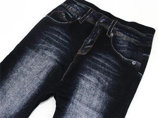 Airly BLUE デニムレギンス厚手パイル秋冬仕様 オリジナルブラック