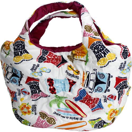 フララニ(Hula Lani)トートバッグ(Mサイズ)アロハビーチロゴ ホワイト