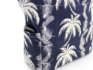 アロハメイド(Aloha MADE)キャンバス トートバッグ パームツリー ネイビー