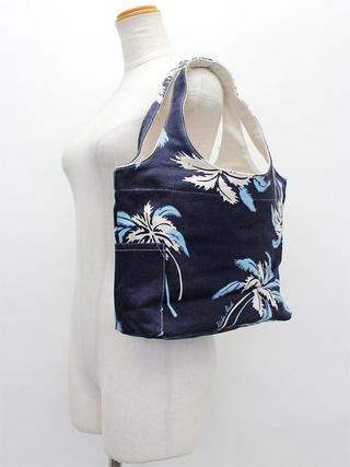 アロハメイド(Aloha MADE)キャンバス トートバッグ パームツリーブルー&ネイビー