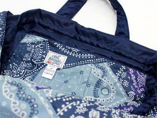 フララニ(Hula Lani)トートバッグ(Lサイズ)Antibalハワイアンバンダナ ブルー