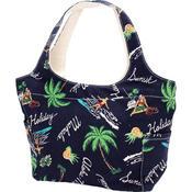 アロハメイド(Aloha MADE)キャンバス トートバッグ サーフビーチ ネイビー