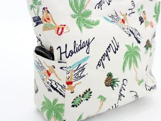 アロハメイド(Aloha MADE)キャンバス トートバッグ サーフビーチ ホワイト
