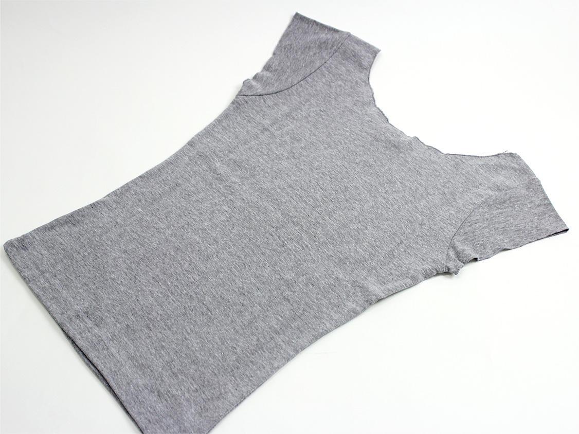 ララフラ カットオフストレッチTシャツ ティアレ グレー
