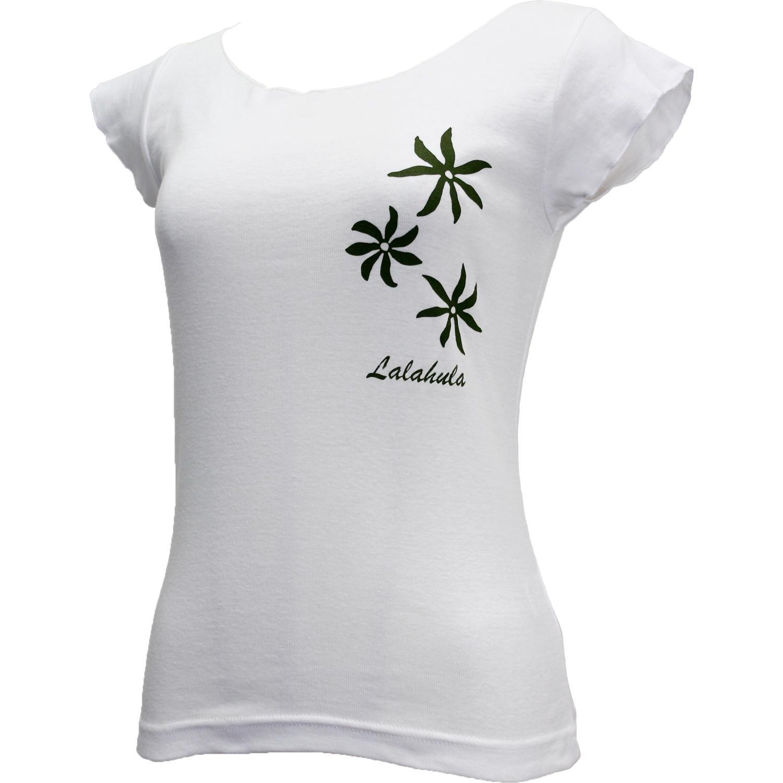 ララフラ カットオフストレッチTシャツ ティアレ ホワイト