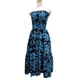 Lahaina ティアードドレス ブラックターコイズ